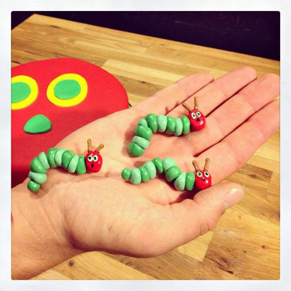 the very hungry caterpillar gumpaste