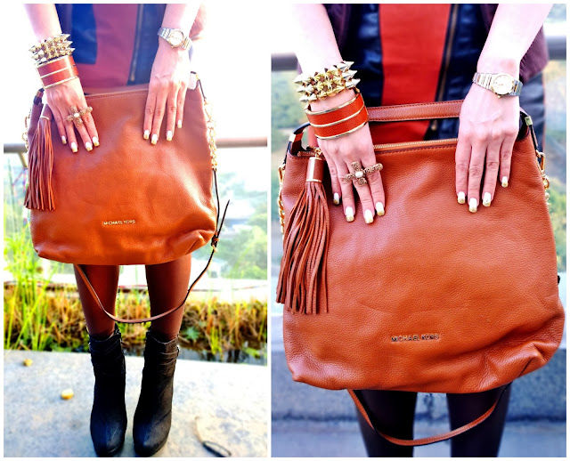 Michael Kors Tan Bag , Forever 21 Cross Ring