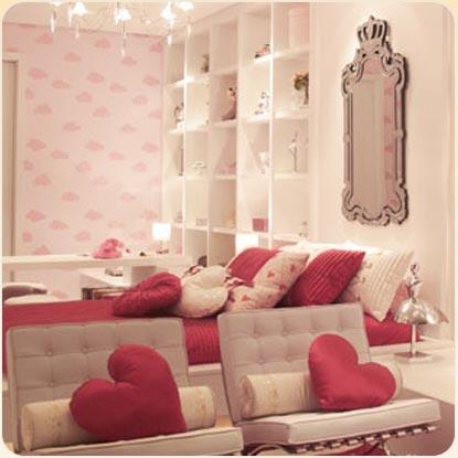 Suite para ni a en rosa y blanco via for Dormitorio nina blanco