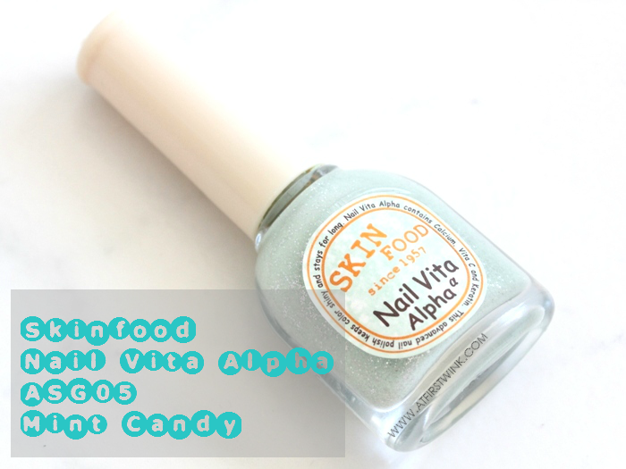 Skinfood Nail Vita Alpha ASG05 - Mint Candy review