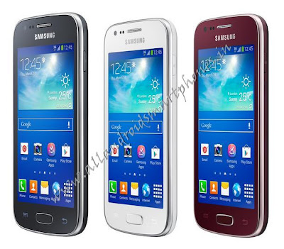 Samsung Galaxy Ace 3 GT-S7272 Android Smartphone Black White Dark Red Side Image & Photos Review
