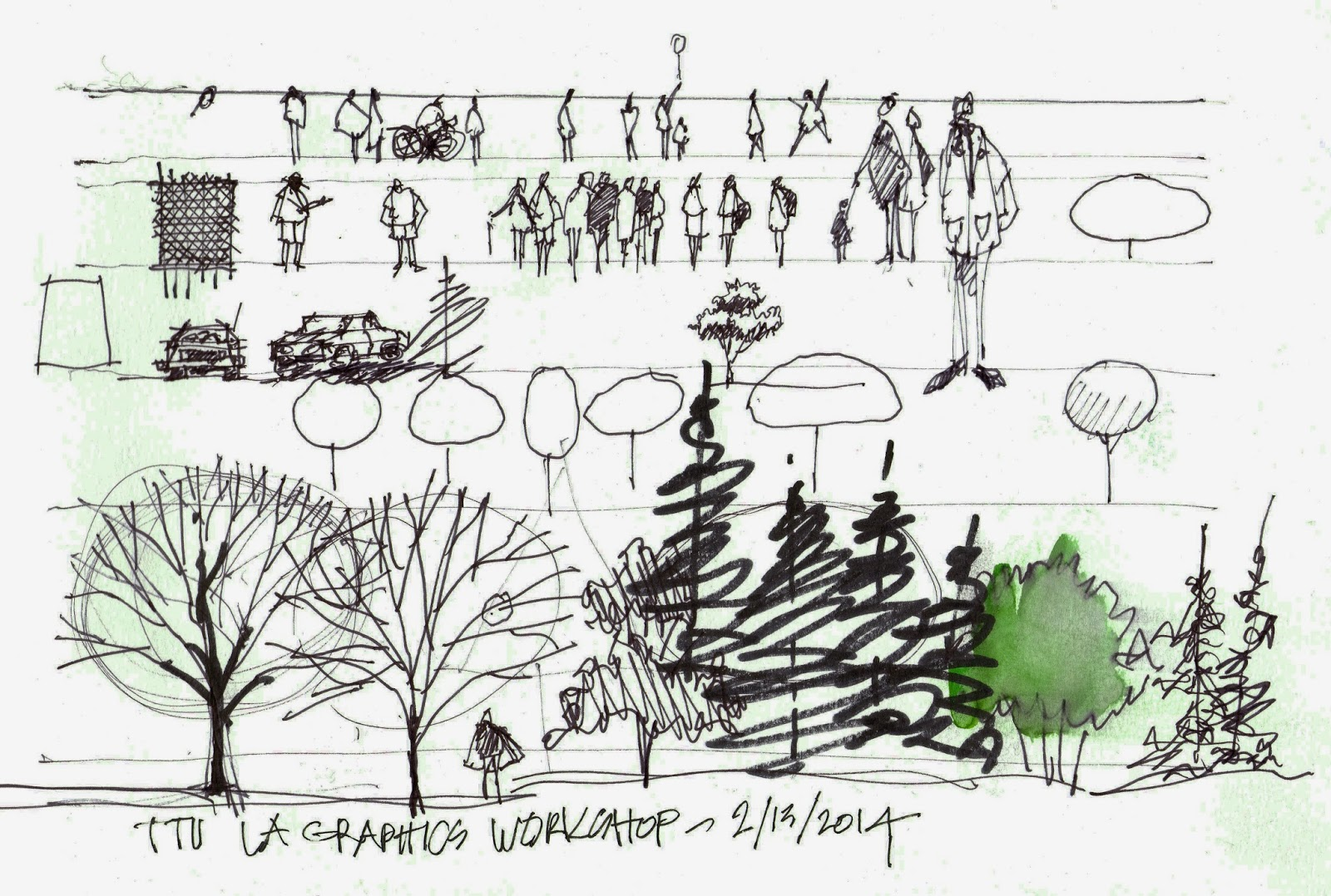 Urban sketchers texas a great time sketching with texas for Garden design sketches
