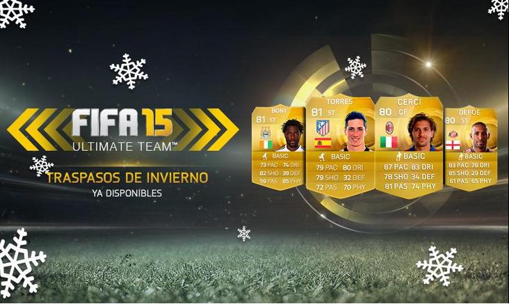 Traspasos invierno FIFA 15 Ultimate Team, Transfers winter FUT 15