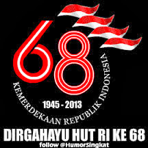 Happy anniversary INDONESIA  68th