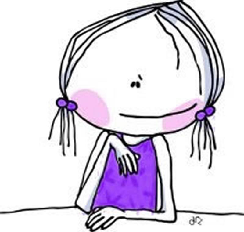 Dibujo de hablando sola - Dibujos para pintar