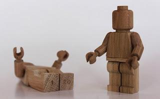 Juguetes de Madera Reciclada, LEGOS Hechos a Mano