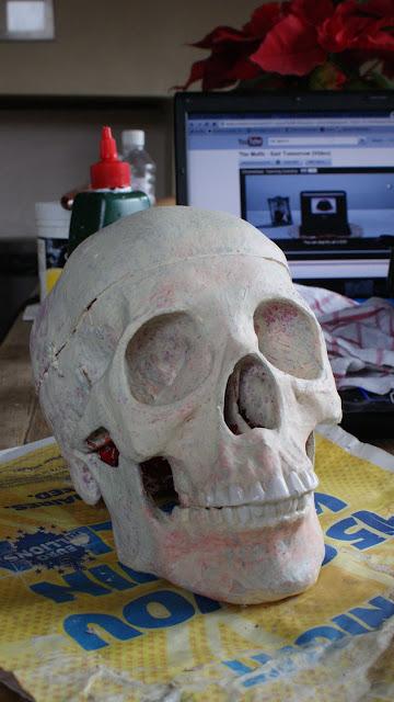 Skull painted.