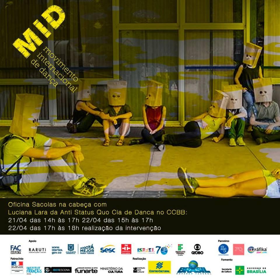 Oficina Sacolas na cabeça no MID - Movimento Internacional de Dança