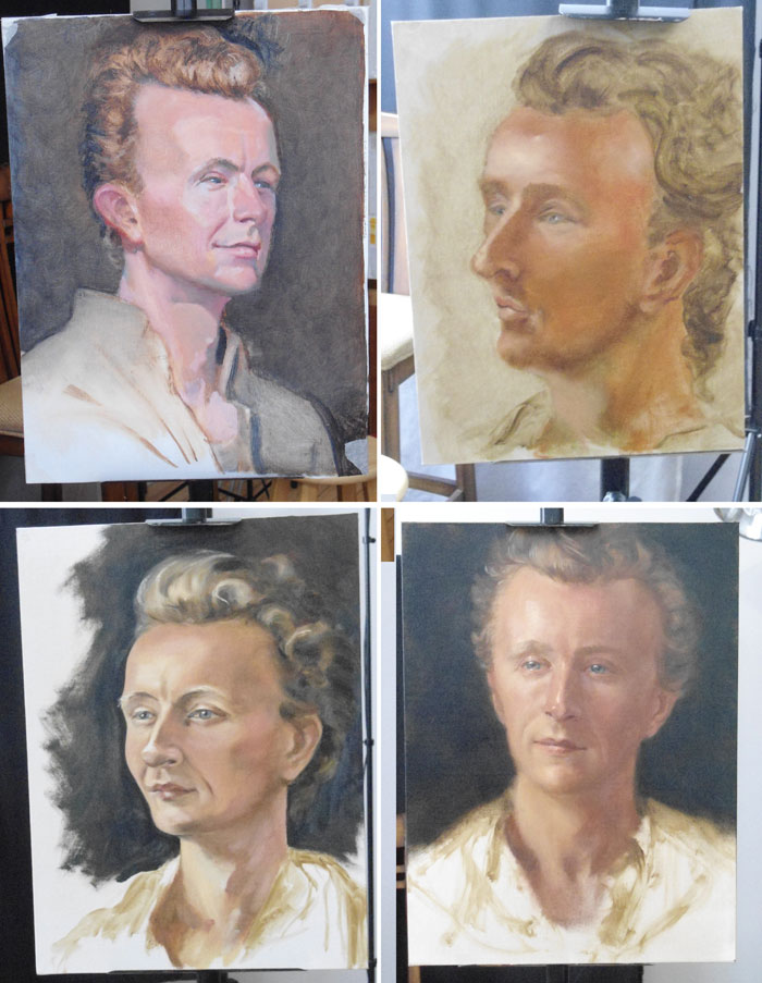 Actor Paul Cram oil paintings