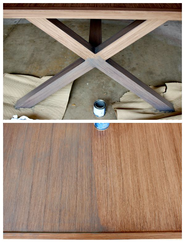 Its Evident That The Wood Grain From Original Finish Still Shows Through Nicely After Applying A Coat Of Gray Stain It Was Better