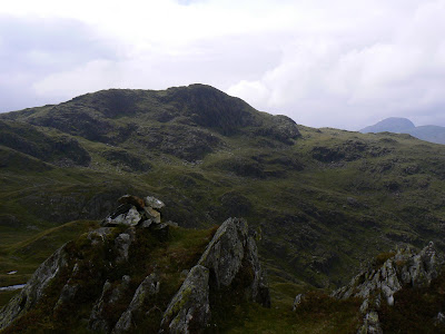 Looking back up at Comb Head from the summit of Dovenest Top