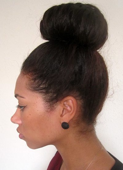 Luxury High Bun With Bangs