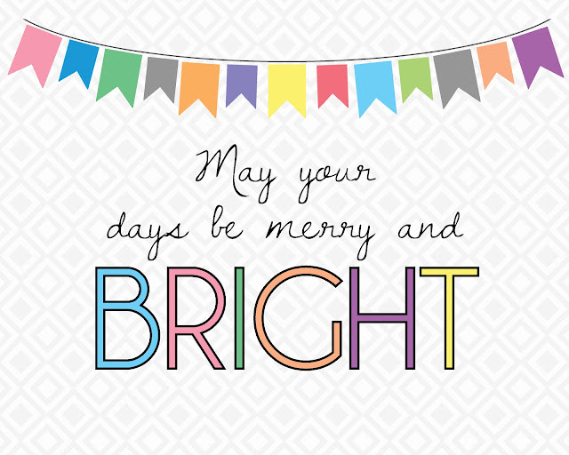 "Free Christmas Printable! ""May your days be merry and bright"" by PrintableWisdom on Etsy"