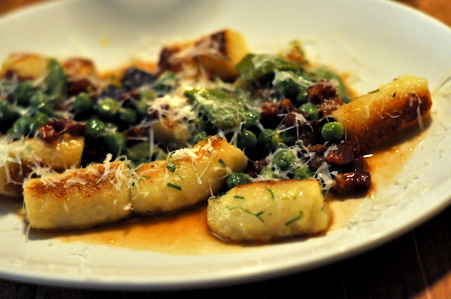 Potato Gnocchi with Pancetta, Peas, and Pecorino - Northern Spy Food Co. - New York, NY | Taste As You Go