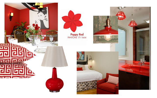 Poppy Wallpaper Home Interior : of Poppy Red is translates beautifully ...