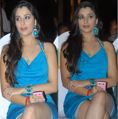Telugu Actress Madhurima In Blue Dress At Mahankali Movie Audio Launch