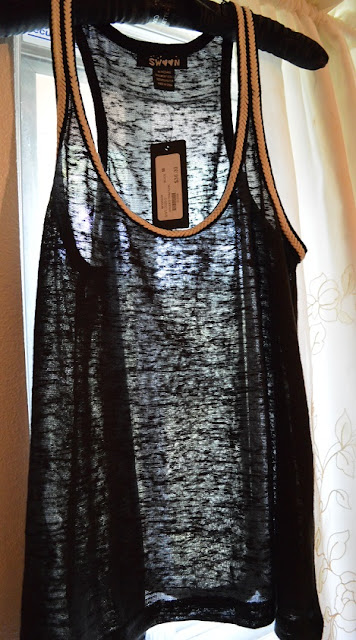 Swoon sheer black tank top