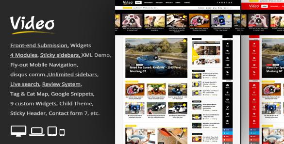 Download Video News WordPress Magazine Newspaper Theme Free