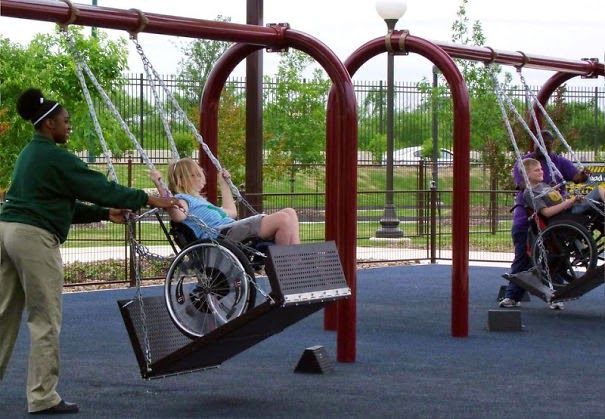20+ Photos That Will Restore Your Faith In Humanity - People Built Swings For Children In Wheelchairs