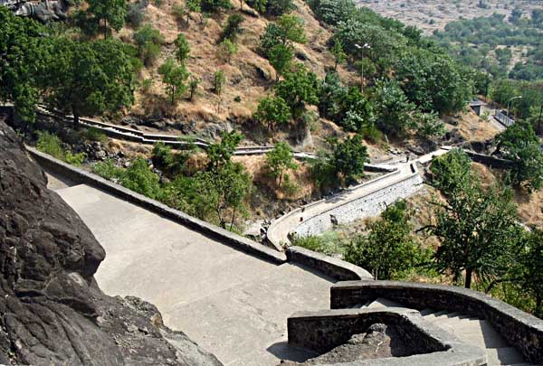 stairway to Aurangabad caves