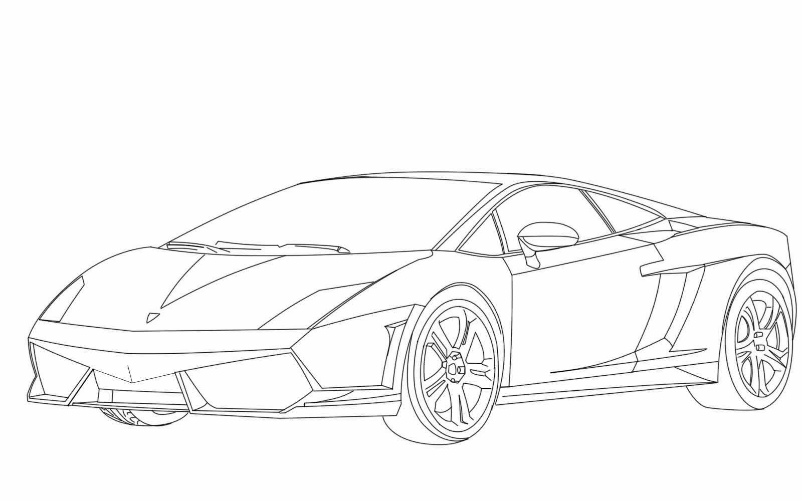 Lamborghini Gallardo Coloring Pages Sketch Coloring Page