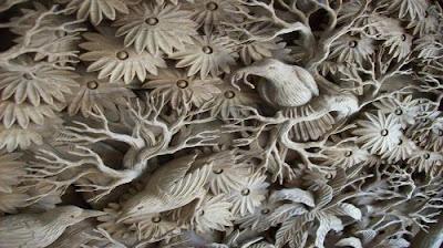 Seni ukir atau ukiran merupakan gambar hiasan dengan bagian-bagian ...