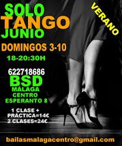 SOLO TANGO EXPRESS, 3 Y 10 DE JUNIO EN BSD BAILAS SOCIAL DANCE MÁLAGA CENTRO.