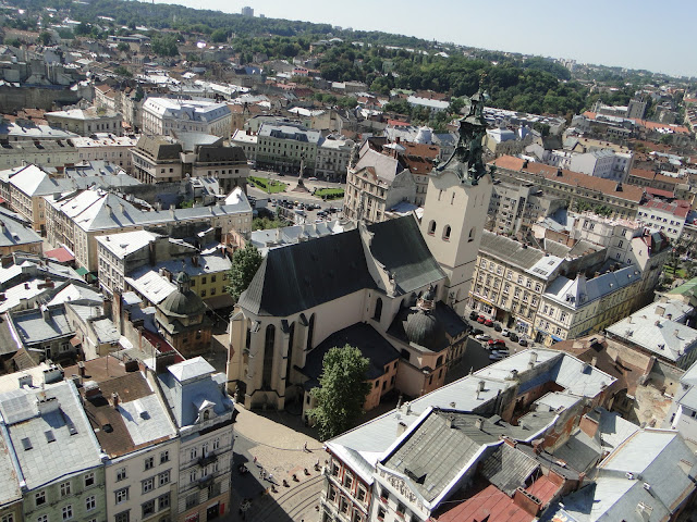 View of Lviv from the City Tower, Ukraine
