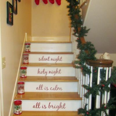 ESCALERAS EN NAVIDAD STAIRCASE FOR CHRISTMAS by escalerasbonitas.blogspot.com