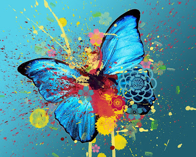 Butterfly Abstract Standard Resolution Wallpaper