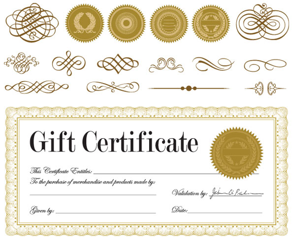 Gift Certificate Template Free Download Gift Certificate Vectorjpg