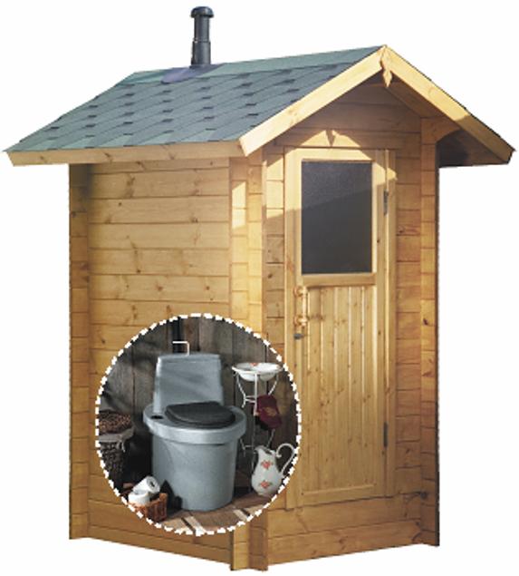 Красивый туалет на даче фото