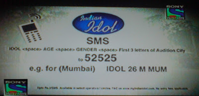 Indian Idol 6 SMS Registration
