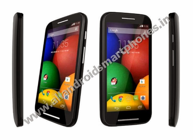 Motorola Moto E Android KitKat 3G Smartphone Black Color Front Back Side Photos Images Review