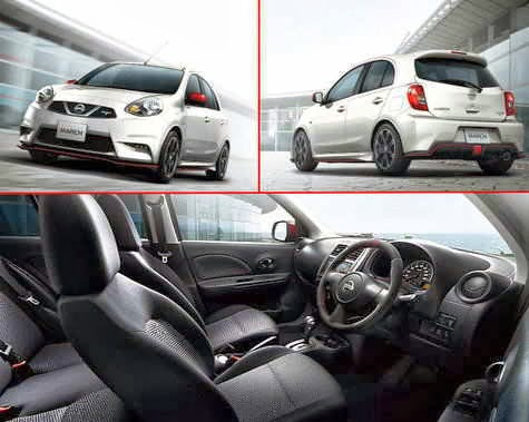 New Nissan March diciptakan dengan penambahan Air Bag, Audio Steering Switch, Parking Sensor, Fog Lamp dan New Head Unit Audio.