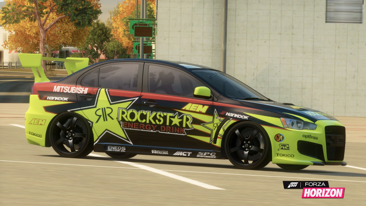 Wonderful Mitsubishi Lancer Evolution X Gsr Rockstar Energy Forza Horizon Idea