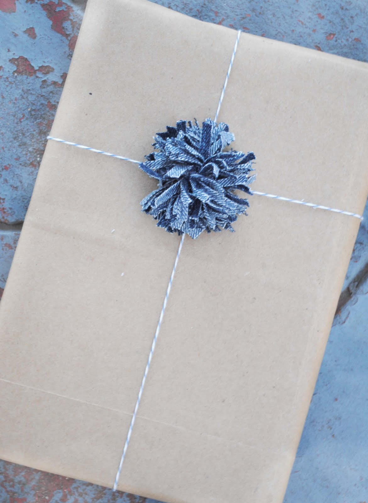 Zakka life craft denim pom poms for Pom pom crafts