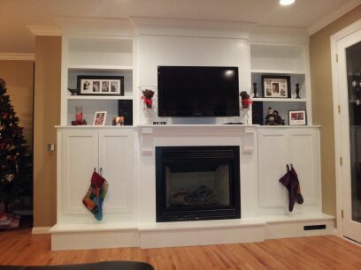 Built In Fireplace Entertainment Center Retro Tech