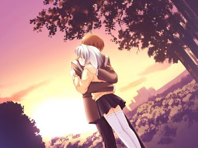 Anime Hugging Couple Pictures