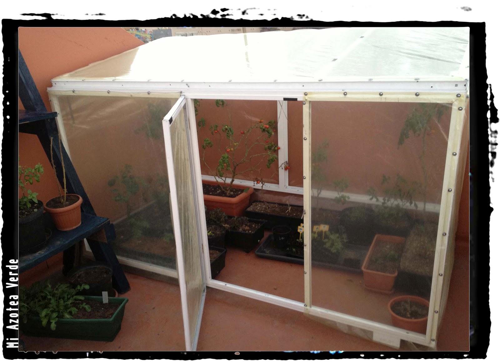 Mini invernadero macetero con materiales reciclados mi - Mini invernadero casero ...