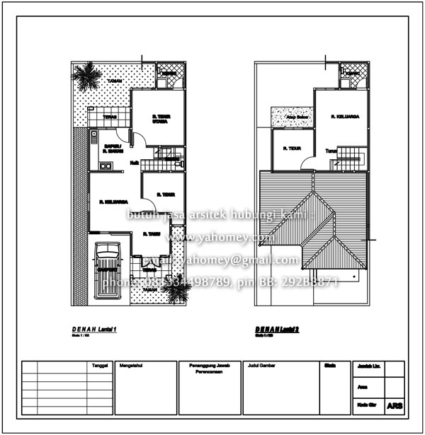 desain rumah satu setengah lantai