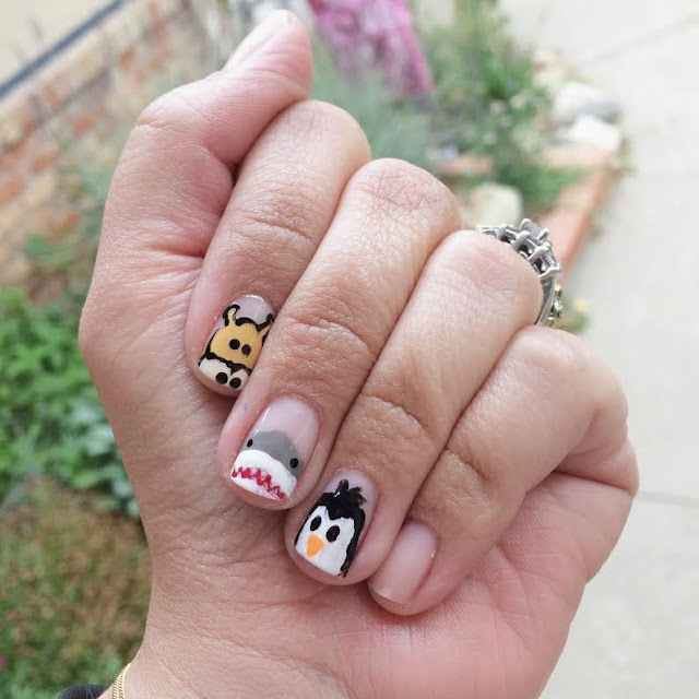 Mani Monday with Glitter and Gloss - mix and match animals