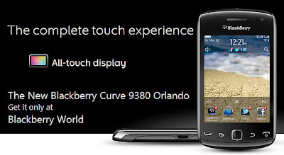 Spesifikasi Harga BlackBerry Curve 9380 Orlando Review