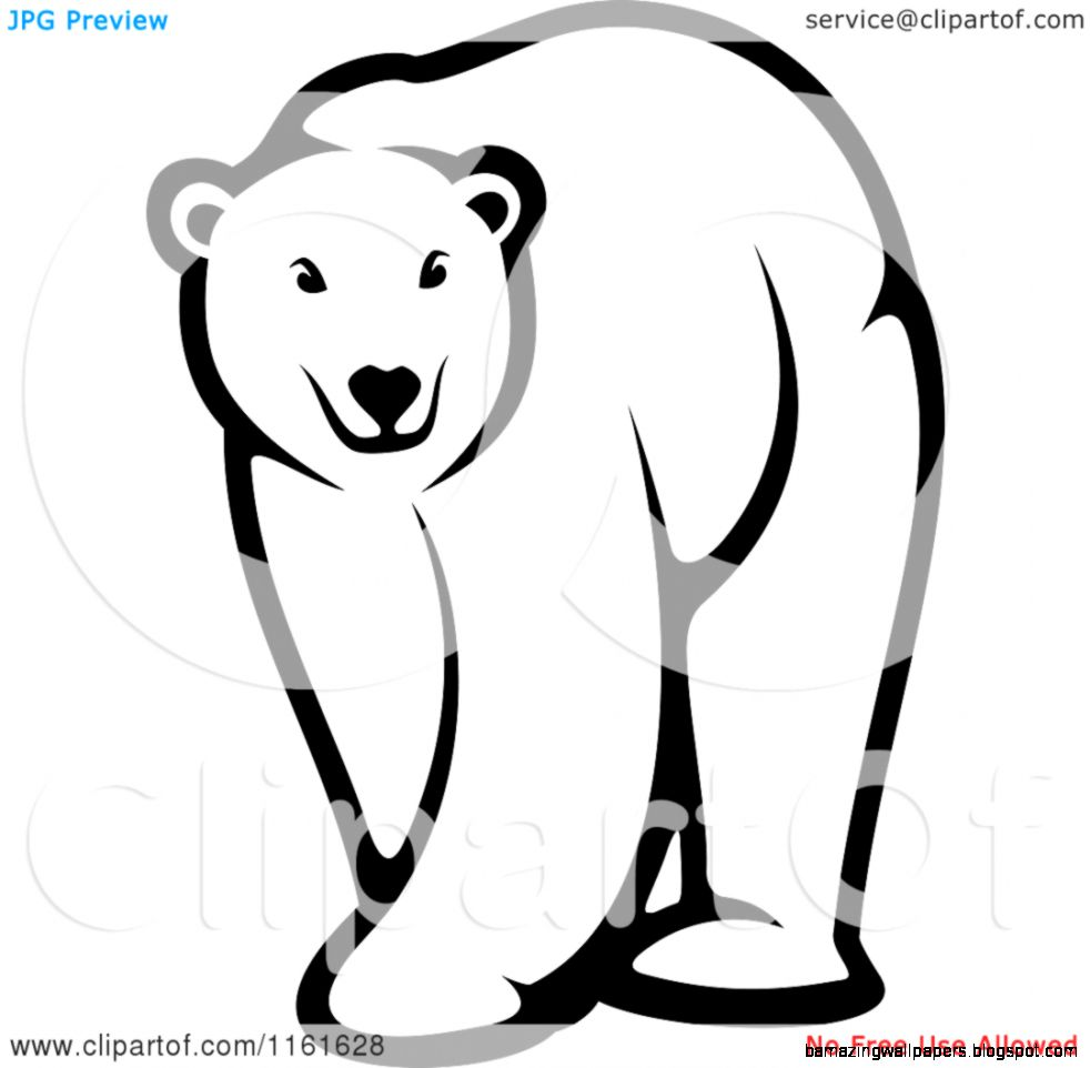 Bear Black And White Clipart   Clipart Kid