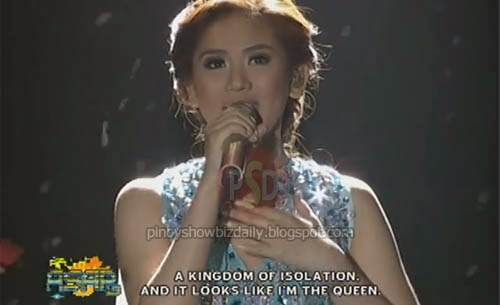 "Sarah Geronimo sings Let It Go""for ‪#‎Frozen‬'s DVD release"