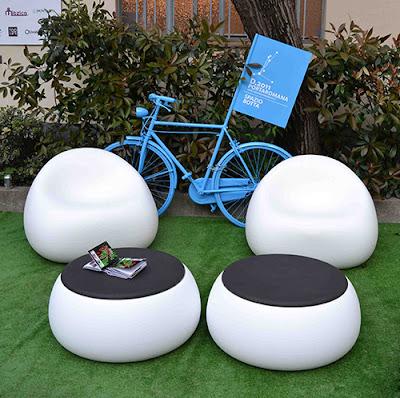 Outdoor plastic chair - Muebles De Jardin Modernos Plust Gumball