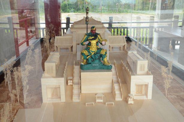 โมเดลจำลอง ศาลเจ้ากวนอูเกาะสมุย