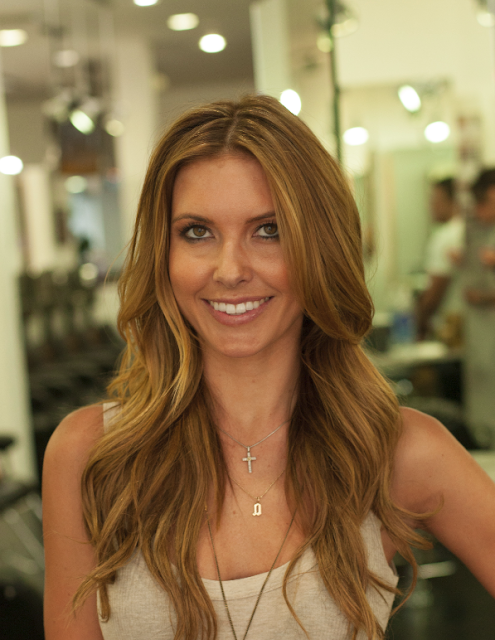 Audrina Patridge gets hair done at Gavert Atelier Salon