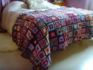 Cubre pies de crochet