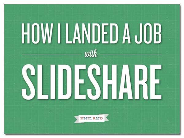 SlideShare pour trouver un emploi